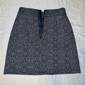 H&M Black/White Speckled Mini Skirt